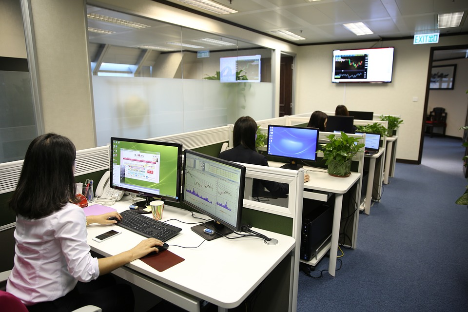 ladies working in office